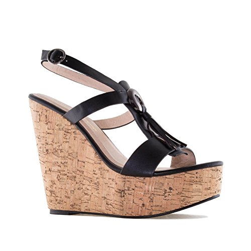 705bc50d641f0f 42 Andres 35 32 Femmes Am5070 Soft Franges pour Compensées En Avec 45  Pointures Noir petites chaussures ...
