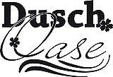 GRAZDesign 650223_30_070 Wandtattoo Dusch-Oase | Duschaufkleber für Glas -Wand und Fliesen | für Duschbereich und Badezimmer | Tür-Aufkleber WC (44x30cm//070 schwarz)