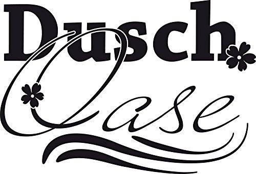GRAZDesign Wandtattoo Bad für Duschbereich - Wandaufkleber Dusch Oase - Wand-Dekoration Duschaufkleber für Glas/Wand/Fliesen / 44x30cm / 650223_30_070 - Meer-glas-fliese