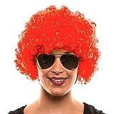 Balinco Afro PERÜCKE LOCKENKOPF Wig AFROPERÜCKE Locken Herren Damen Karneval Fasching LOCKENPERÜCKE -Rot