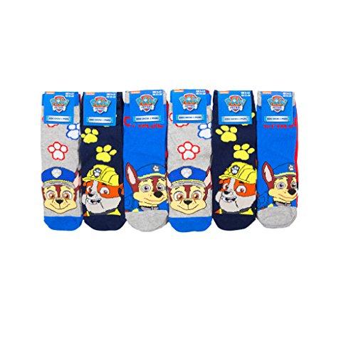 Louise23 Boys 6 Pairs Paw Patrol Design Socks Dog Puppy Socks Chase Rubble Zuma Marshall Nursery Socks