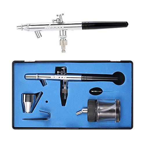Kkmoon 0.35mm aerografo kit sifone alimentazione doppia azione pistola a spruzzo aerografo come il buddha provvisorio tatuaggio manicure trucco torta arte pittura