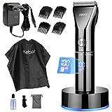 Haarschneidemaschine für herren, Kebor Profi Haarschneider Set Bart Trimmer Langhaarschneider, LED-Bildschirm und Wiederaufladbar...