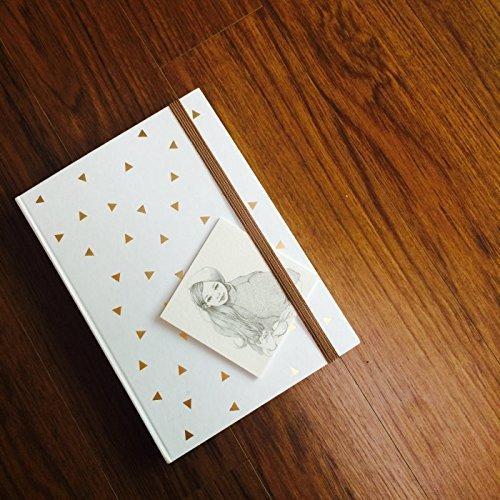 Dreieck-Goldfolien- Journal in weißer Farbe (kann als Tagebuch oder Planer verwendet werden) Noizbuch • Schreibjournal • Tagebuch • Brautjungfer Geschenk • Reiseplaner • Pflichtenheft • Tagesplaner • 2019 Planer