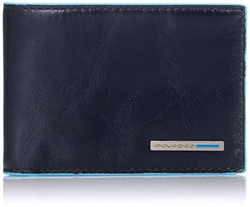 Piquadro PU3242B2/BLU2 Blue Square Portafoglio, Blu, 10 cm