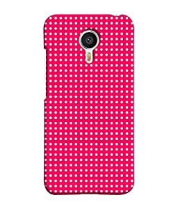 PrintVisa Designer Back Case Cover for Meizu M3 Note :: Meizu Note 3 (Dots Design Pattern Pink White)