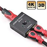 HDMI Switch Bidirezionale HDMI Interruttore Manuale Supporta 2 Ingressi 1 Uscita o 1 Ingresso 2 Uscite 2 x 1/1 x 2 Commutatore HDMI Supporta Ultra HD 4K 3D 1080P Da DotStone