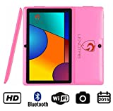 60% OFF 7' Bluetooth HD Quad Core 1024X600 Tablet PC Actions 7031 Cortex A9 CPU Android 4.4.2 KitKat 512MB RAM 4GB FLASH Dual Camera BBC Iplayer Google Play Store WiFi Support Netflix 3D Games Flash Skype (Pink)