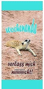 Dulce-Verlag 97783 - Toalla Xtreme Suricatas Fin De Semana
