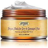 Vitamins Masque Revitalisant Hydratant Intense d' Huile d' Argan - Cheveux Abimes & Secs (Normaux, Epais) Soin Capillaire Réparateur
