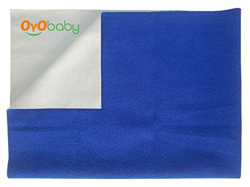 OYO BABY - Waterproof Bed Protector Dry Sheet (Small, Royal Blue)  available at amazon for Rs.153