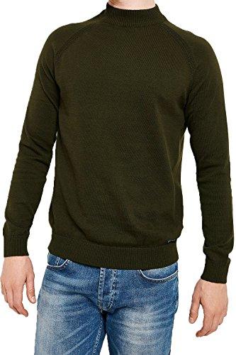 Threadbare Herren Jumper Pullover schwarz schwarz Small Gr. Small, salbeigrün (Top Neck Funnel Knit)