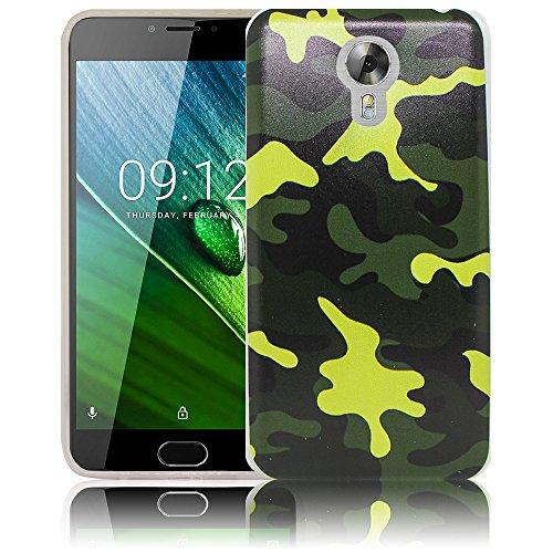 thematys Passend für Acer Liquid Z6 Plus Camouflage Silikon Schutz-Hülle weiche Tasche Cover Case Bumper Etui Flip Smartphone Handy Backcover Schutzhülle Handyhülle