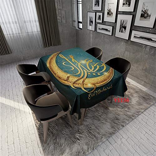 QWEASDZX Tischdecken Tischdecke rechteckiger Tisch Nationale Art Mandalas Thema Tischdecken ölbeständig und wasserabweisend geeignet Wiederverwendbare Innen- und Außen 150x150cm