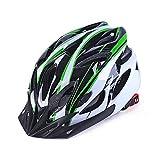 Casco da bici per adulto, regolabile, leggero, con struttura a nido d'ape a 18 fori, per mountain bike, bicicletta da corsa, da uomo e donna, Green