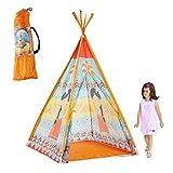 Fancylande Kinder Teepee Tipi Set für Kinder Spielzeug drinnen draußen Spielzelt Zelt - Indianerzelt, Wigwam, Spielzelt, Kinderzelt, Spielhaus Baby Indoor Klettern
