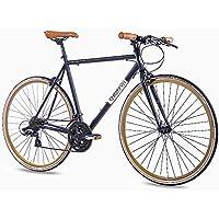 CHRISSON '28pulgadas Urban bicicleta de carreras vintage Road 3.0con 21g Shimano A070Retro Negro Mate, tamaño large, tamaño de rueda 28 inches