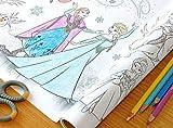 Unbekannt Malrolle Selbstklebend Frozen die Eiskönigin XXL 3,20 m Lang Zum Malen ausmalen und ankleben mit Selbstklebender Rückseite Banner