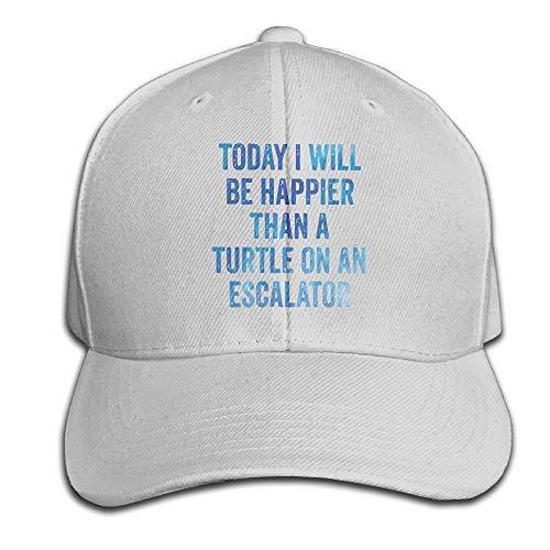 akingstore Heute werde ich glücklich Schildkröte Snapback Sandwich Cap Ash Baseball Cap Hüte Einstellbare Trucked Trucked Cap (Schildkröte-baseball-cap)