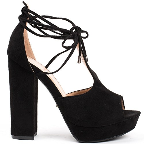 Ideal Shoes ,  Sandali donna Nero