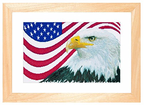 Thea Gouverneur American Eagle on Aida Counted Cross Stitch Kit-17.25