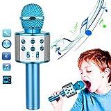 CYKT1 Karaoke Bluetooth Microfono Macchina per Karaoke per Bambini, Regali di Compleanno per Ragazze dei Ragazzi di 4, 5, 6, 7, 8, 9, 10, 11, 12 Anni