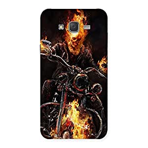 Delighted Ghost Multicolor Rider Back Case Cover for Galaxy J7