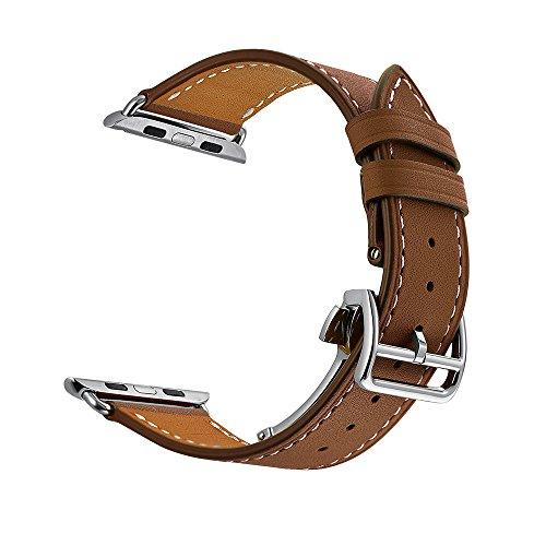 apple-watch-pulsera-nailon-tejido-deployment-buckle-braun-42mm