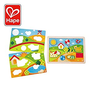 Hape- Puzzle Infantil 3 in 1 Pepe y Amigos (Barrutoys E1601)