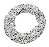 Anker Marine Damen Loop Schal aus hochwertiger Seide & Baumwolle (weiß schwarz neu)