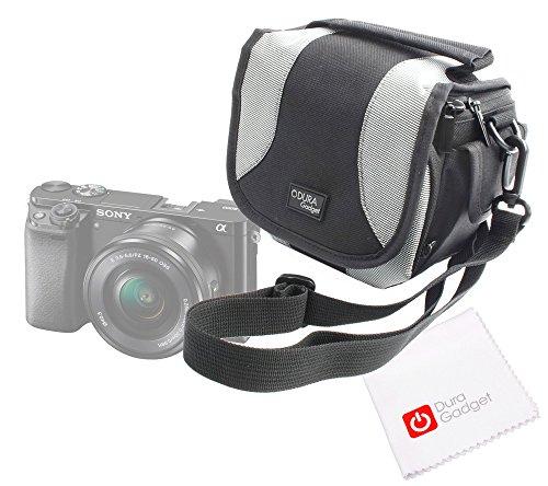 DURAGADGET Tasche mit Schultergurt und Innentaschen ideal für CSC Sony A6000/NEX-6L/RX100II/DSC-RX100M2Bridge-Kamera + Reinigungstuch