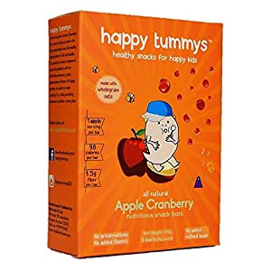 Happy Tummys Apple Cranberry Snack Bars | Natural Energy Boost for Toddlers and Kids | Healthy Snack of Kids | Nutritious and Ready to Eat | (Pack of 5 Bars) | 150g