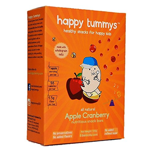 Happy Tummys Apple Cranberry Snack Bar (Pack of 5)