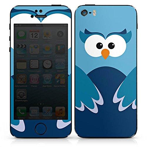Apple iPhone 5s Case Skin Sticker aus Vinyl-Folie Aufkleber Eule Owl Blau DesignSkins® glänzend