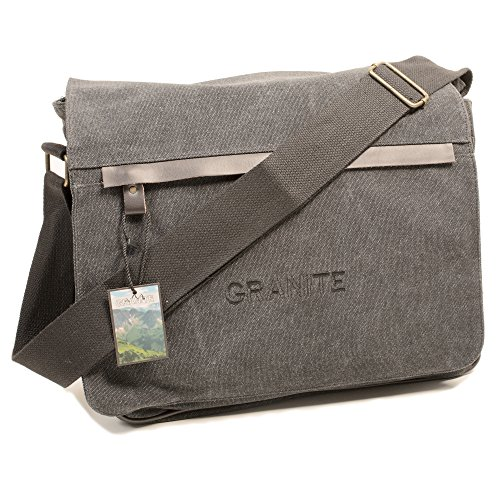granite-messenger-canvas-travel-bag-with-strong-shoulder-strap-and-multiple-compartments-grey
