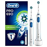 Oral-B PRO 690 Spazzolino rotante-oscillante Blu, Bianco, battery, 3d effect;heads included:1;timer:yes;two minute timer, blue, white
