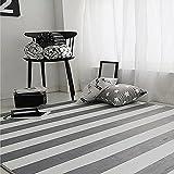 ZHEN GUO Grau und Weiß Gestreiften Rechteck Decke Kinder Teppich Bereich Teppich Schlafzimmer Wohnzimmer Nachttisch Büro Stuhl Tisch Sofa Anti-Rutsch-Matte Krabbeln Mat (Größe : 100 * 150cm)