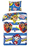 Bettwäsche Set Kinder Paw Patrol 140x200+1x70x90