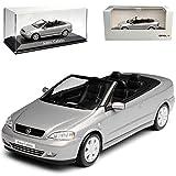 alles-meine.de GmbH Opel Astra G Cabrio Silber Grau 1998-2005 1/43 Minichamps Modell Auto mit individiuellem Wunschkennzeichen