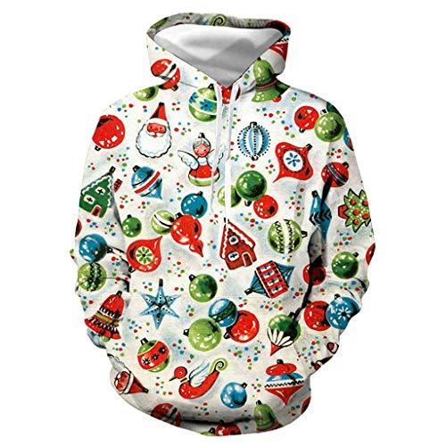 Frauen Männer Unisex Weihnachtsweihnachts Pulloverhoodie Top Mit Taschen Plus Größen Sweatshirt Hemd Sweater Baseball Trikot,B,M