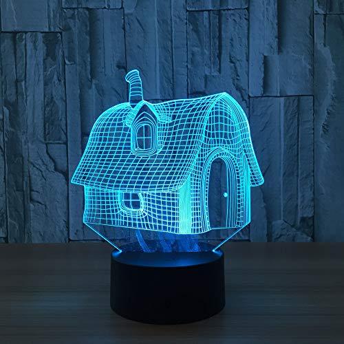 BFMBCHDJ 7 Farbe Haus Ändern Nachtlicht Sammeln Charizard 3D Led Tisch Schreibtischlampe Cartoon Figur Kinder Nachttischlampen Usb Led