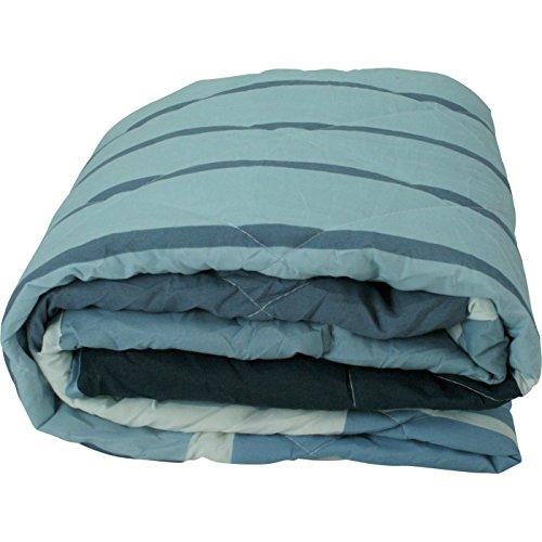 WOMETO federleichtes Sommer-Steppbett Steppdecke Bettdecke, 135x200, für CAMPING/SOMMER ca. 700g Bettdecke Karo kariert blau