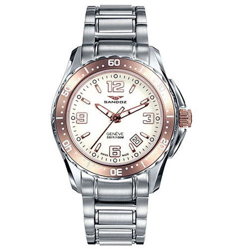 Montre Sandoz The Race 81290-90 Femme Blanc