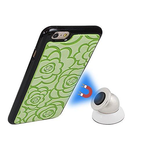 Housse Portefeuille Pour iPhone 5/5S/SE Coque pour iPhone 5/5S/SE,xhorizon TM Étui en cuir Etui/Pochette pour iPhone 5/5S/SE mode housse pour iPhone 5/ iPhone 5S / iPhone SE Coque détachable magnétiqu vert