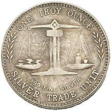 Moneda De Plata del Dólar De Plata Colección Antigua Moneda De Bronce US 999 Moneda De
