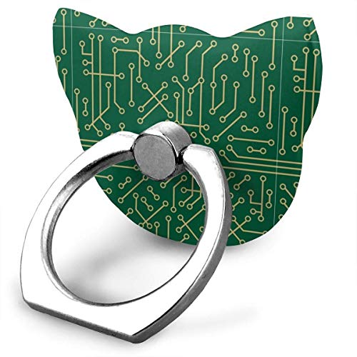 NiceGift Ringhalter für Mobiltelefon, 360 Grad drehbar, 180 Grad drehbar, mit Fingerring-Ständer, für iPhone, Samsung Galaxy, Smartphones und Tablet, Grün -