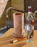 Terracotta-Weinkühler mit Unterteller