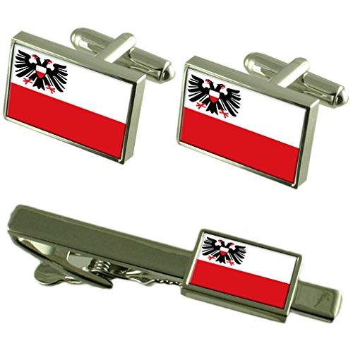 Stadt Lübeck Deutschland Fahne Manschettenknöpfe Krawattenklammer Box Geschenk Set