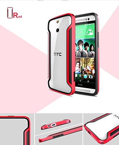 Nillkin Premium Ultra Thin Armor Border Series Bumper Case For HTC One E8 - Red