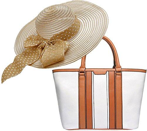 Portogarda Einkaufstasche, große Henkeltasche im Set mit Sommer- Hut